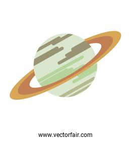 Saturn milkyway planet isolated symbol