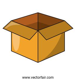 Cardboard box open delivery symbol isolated