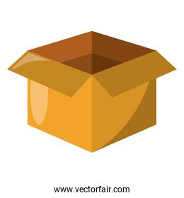 open box delivery symbol isolated
