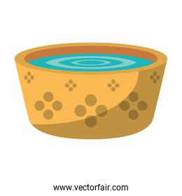 Water in pot isolated symbol