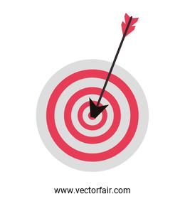 Target dartboard business symbol isolated