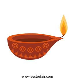 indian traditional lamp icon cartoon