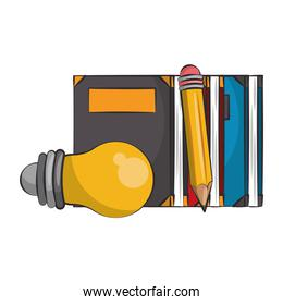 Books knowledge and education cartoons