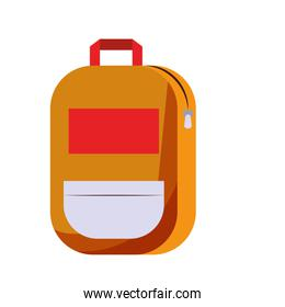 Backpack school supply isolated symbol
