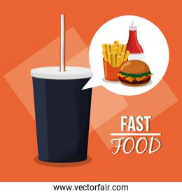 Soda and fast food design