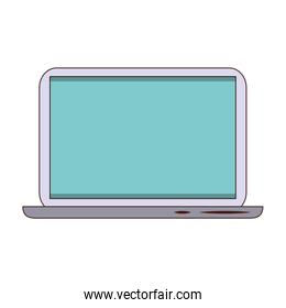 Laptop computer technology isolated symbol