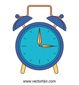Clock with alarm bells isolated symbol