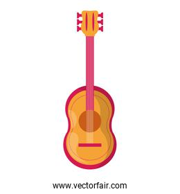 Acoustic guitar musin instrument icon isolated