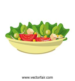 Vegetables fresh salad in bowl