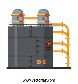 Petroleum oil refinery plant with machinery
