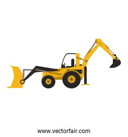 Construction excavator vehicle machine isolated