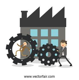 Businesspeople cartoon and solution design
