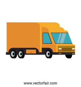 Delivery van shipping vehicle isolated