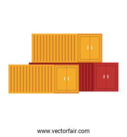 Cargo freighter containers isolated scenery