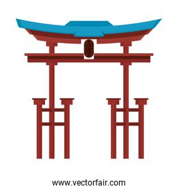 China entrance monument isolated symbol vector illustration