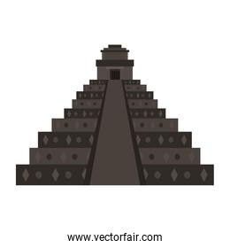 Mexican pyramid monument isolated vector illustration