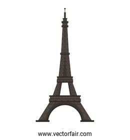 Eiffel tower paris monument isolated vector illustration