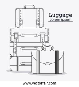 Bags of baggage and luggage concept