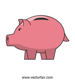 Piggy money savings and investment symbols