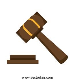 Justice gavel hammer symbol isolated