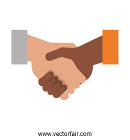 Handshake business deal symbol isolated