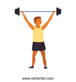 Fitness man lifting weights avatar