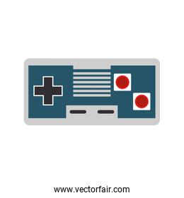 Modern videogame console gamepad with buttons