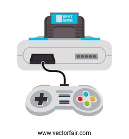 Retro videogame console and gamepads