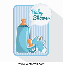 Bottle pacifier and baby sock design