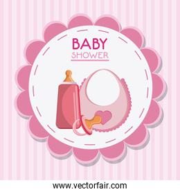 Pacifier bottle and baby bib design