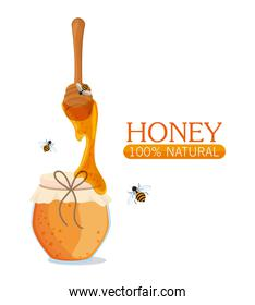 Honey healthy and organic food  design
