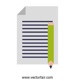 paper sheet contract letter cartoon