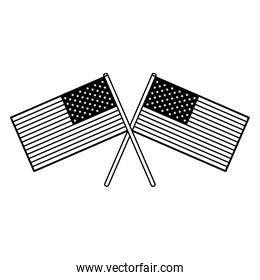 usa independence 4th july cartoon in black and white