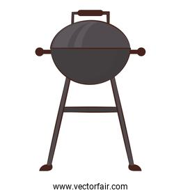 Barbecue grill equipment for cook isolated