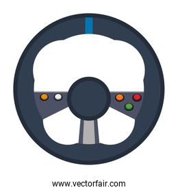 Videogame steering wheel console controller isolated
