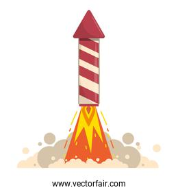 rocket firework gunpowder fire cartoon