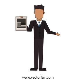 executive business corporate man cartoon
