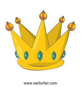 crown king luxury insignia cartoon