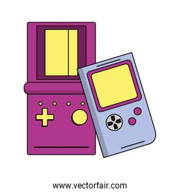 retro vintage game tetris cartoon