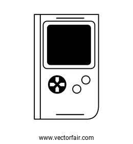 retro vintage game tetris cartoon in black and white