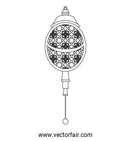 lantern decoration festival lamp cartoon in black and white