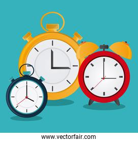Traditional clock and chronometer