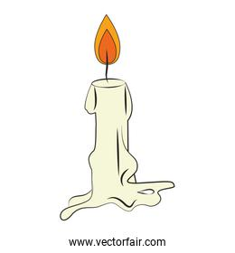 candle light fire flame cartoon