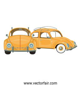 vintage retro classic cars cartoon