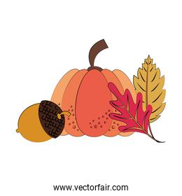 Autumn season cute elements cartoons