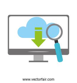 magnifying glass and technology design