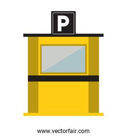 parking toll booth icon