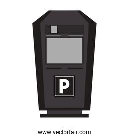 parking meter icon isolated