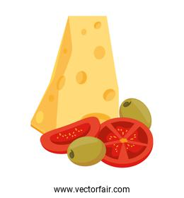 cheese and vegetables design