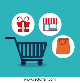 Shopping commerce and market design